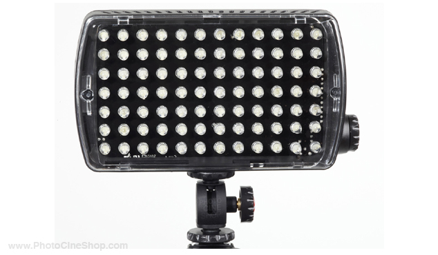 Manfrotto ML840H Led light - maxima-84 hybrid+ (850lx@1m) dimmer, flash, gels