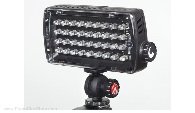 https://photocineshop.com/library/Manfrotto ML360HP Torche led midi plus hybride 36l rotule, var, flash et gél.