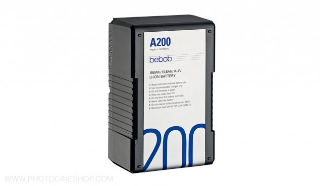 BEBOB - A200 - Gold Mount Li-Ion Battery 14.4V / 196Wh