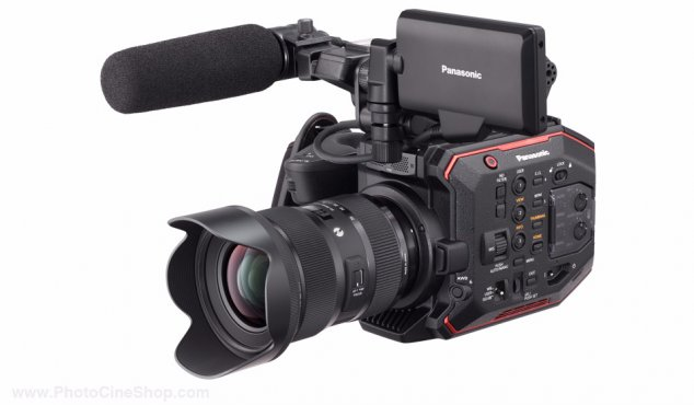 SPECIAL OFFER! Panasonic - AU-EVA1 - Compact 5.7K Super 35mm Cinema Camera +  SONY SD 128 GB Pro, Tough 18x stronger - UHS-II R300 W299 - V90