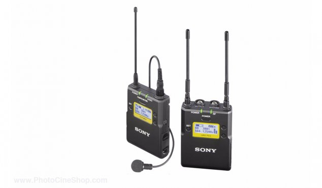 SONY - Pack UHF ENG incl. Pocket transmitter UTX-B03, portable receiver URX-P3, micro