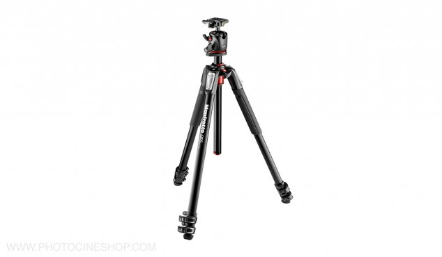 Manfrotto - Kit Tripod 3 sections, aluminum + XPRO Ball Head + 200PL